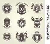 Knight Coat Of Arms And...