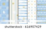 set of sea and nautical... | Shutterstock .eps vector #616907429