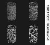 dotwork halftone vector... | Shutterstock .eps vector #616911881