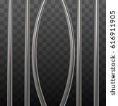 broken prison bars on black... | Shutterstock .eps vector #616911905