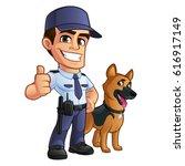 nice security guard  he's...   Shutterstock .eps vector #616917149