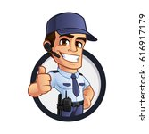 nice security guard  he's...   Shutterstock .eps vector #616917179