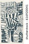 rock vector illustration for... | Shutterstock .eps vector #616920041
