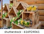 wedding  decoration near the... | Shutterstock . vector #616924061