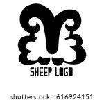 stylized ram  sheep  lamb... | Shutterstock .eps vector #616924151