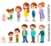 people of different ages | Shutterstock .eps vector #616930874