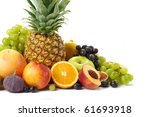 fruit on a white background | Shutterstock . vector #61693918