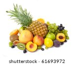 fruit on a white background | Shutterstock . vector #61693972