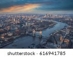 london view at sunset | Shutterstock . vector #616941785