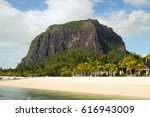 mountain le morne brabant with... | Shutterstock . vector #616943009