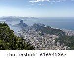 sugar loaf   pao de acucar.... | Shutterstock . vector #616945367