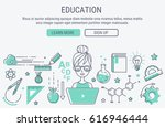 education and learning. line... | Shutterstock .eps vector #616946444