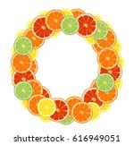 round frame composed of... | Shutterstock .eps vector #616949051