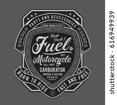 vintage motorcycle fuel... | Shutterstock .eps vector #616949939