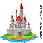 illustration castles on the... | Shutterstock .eps vector #616952135