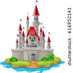 illustration castles on the... | Shutterstock . vector #616952141