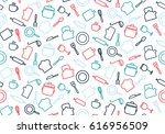 colorful seamless pattern with... | Shutterstock .eps vector #616956509