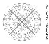 adult coloring page mandala.... | Shutterstock .eps vector #616962749