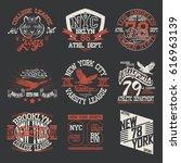 sport typography graphics logo... | Shutterstock .eps vector #616963139