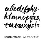 vector acrylic brush style hand ... | Shutterstock .eps vector #616970519