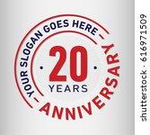 20 years anniversary logo... | Shutterstock .eps vector #616971509