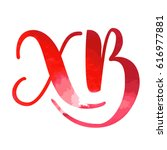 hand drawn vector lettering in... | Shutterstock .eps vector #616977881