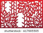 laser cut flower pattern for... | Shutterstock .eps vector #617005505
