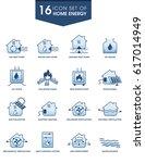 home energy icon set. for... | Shutterstock .eps vector #617014949