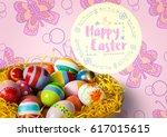 digital composite of happy... | Shutterstock . vector #617015615