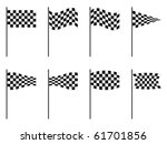 checkered flags collection... | Shutterstock . vector #61701856