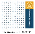 universal web icon set clean... | Shutterstock .eps vector #617022299