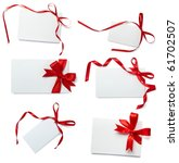 collection of  card note with ... | Shutterstock . vector #61702507
