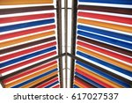 color cylindrical roof | Shutterstock . vector #617027537