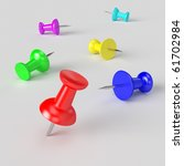 push pin | Shutterstock . vector #61702984