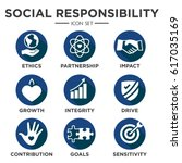 social responsibility solid... | Shutterstock .eps vector #617035169