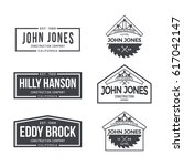 construction company label and... | Shutterstock .eps vector #617042147
