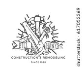 construction company label and... | Shutterstock .eps vector #617052269
