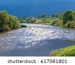 view on zhizdra river valley in ...   Shutterstock . vector #617081801