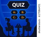 quiz game vector illustration.... | Shutterstock .eps vector #617086451