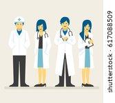 doctors team  medical staff... | Shutterstock .eps vector #617088509