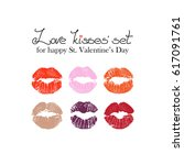 vector lips for saint valentine'... | Shutterstock .eps vector #617091761
