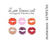 vector lips for saint valentine'...   Shutterstock .eps vector #617091761