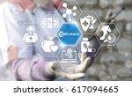 healthcare compliance. medicine ... | Shutterstock . vector #617094665
