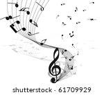 musical design elements from... | Shutterstock .eps vector #61709929