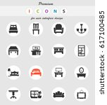 furniture vector icons for user ... | Shutterstock .eps vector #617100485