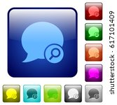 find blog comment icons in... | Shutterstock .eps vector #617101409