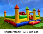 big  colorful  inflatable... | Shutterstock . vector #617105135