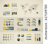 world map infographic. vector... | Shutterstock .eps vector #617109785