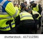 london  uk. 1st april 2017.... | Shutterstock . vector #617112581