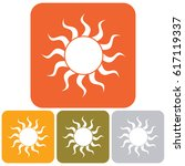 sun icon. vector illustration   | Shutterstock .eps vector #617119337